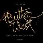 Butter West Signature Script Font