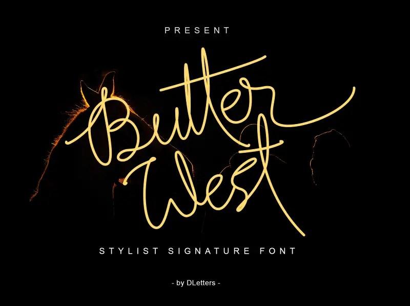 Butter West Signature Script Font-1