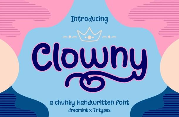 Clowny Script Font