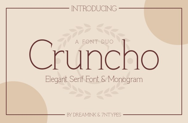 Cruncho Monogram Serif Font