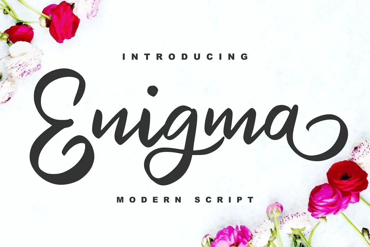Enigma Modern Script Font-1