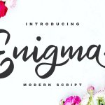 Enigma Modern Script Font
