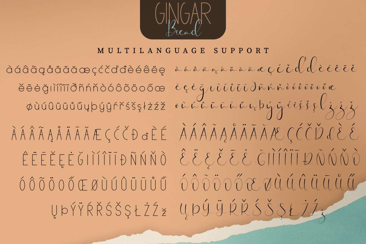 Gingar Bread Font Duo-3