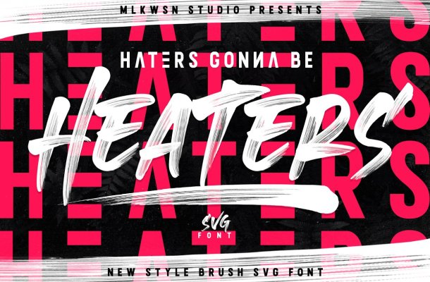 Heaters Brush Font