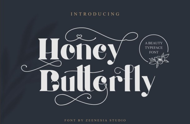 Honey Butterfly Display Font