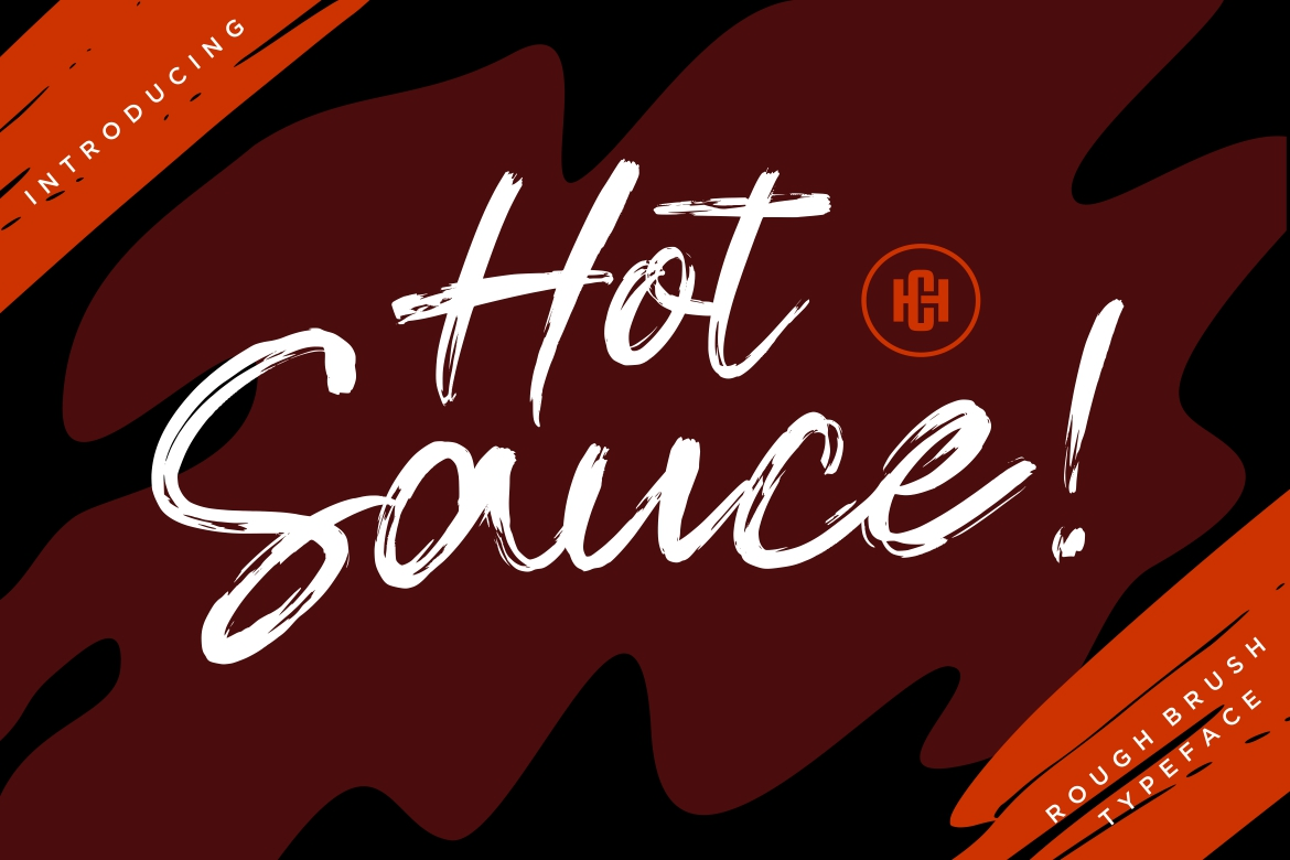 Hot Sauce Brush Font-1