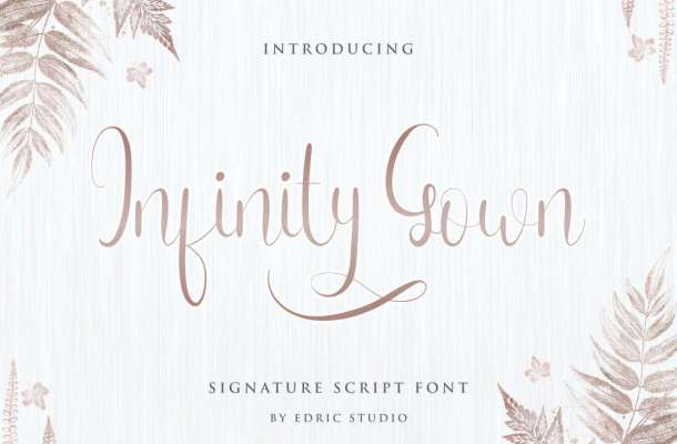 Infinity Gown Calligraphy Script Font