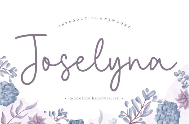 Joselyna Script Font