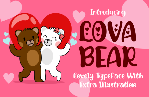 Lova Bear Family Fonts