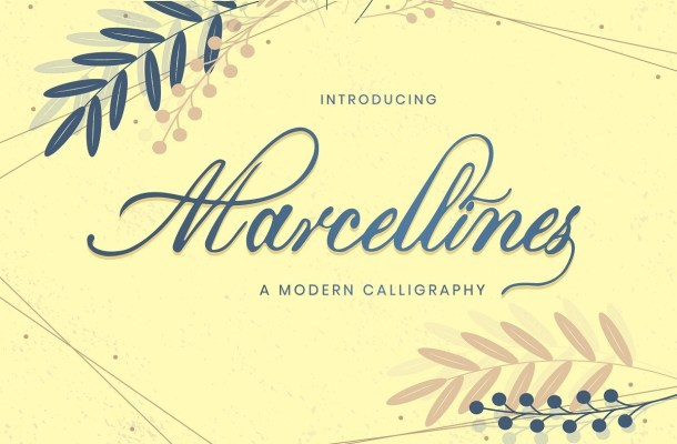 Marcellines Modern Calligraphy Font