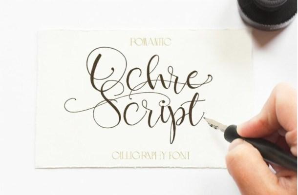 Ochre Script Font