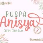 Puspa Anisya Script Font