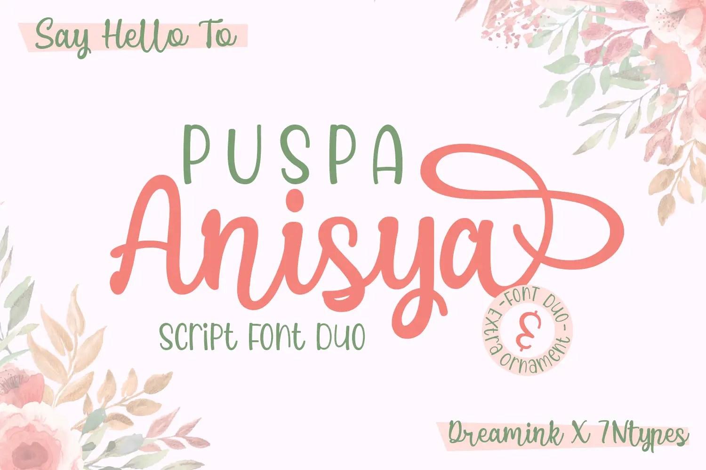 Puspa Anisya Font by Dreamink (7NTypes)_1