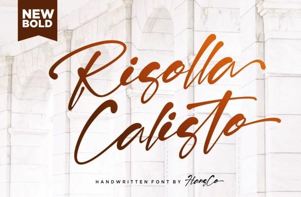 Risolla Calisto Script Font