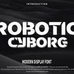 Robotic Cyborg Display Font