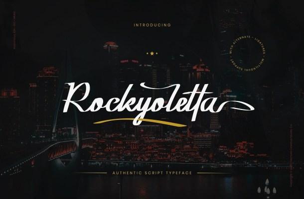 Rockyoletta Calligraphy Script Font