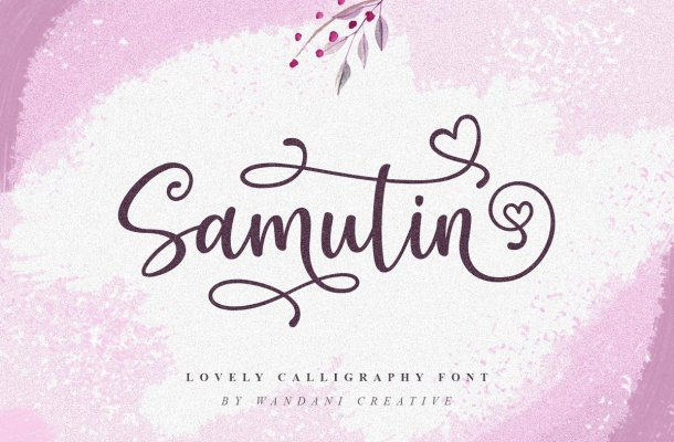 Samutin Calligraphy font