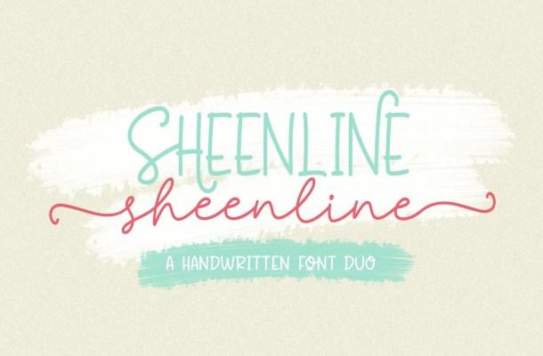 Sheenline Monoline Font Duo