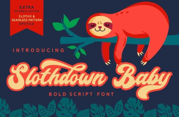 Slothdown Baby Script Font