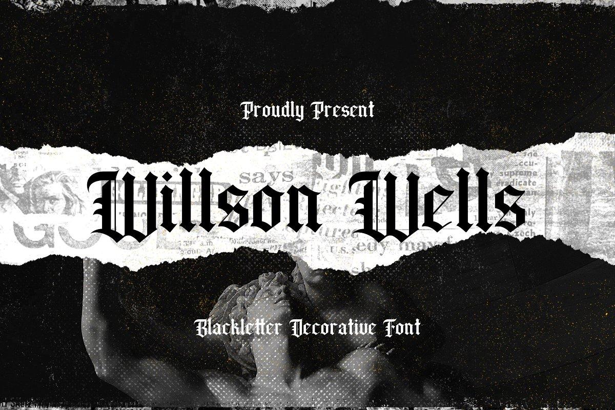 Wilson Wells Blackletter Decorative Font-1