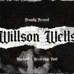 Wilson Wells Blackletter Decorative Font