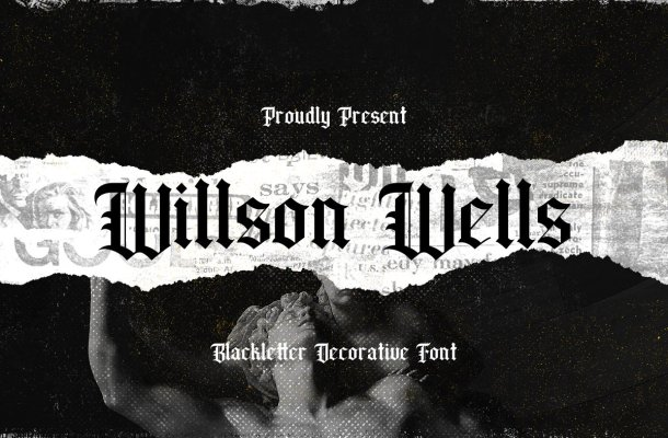 Wilson Wells Blackletter Decorative Font