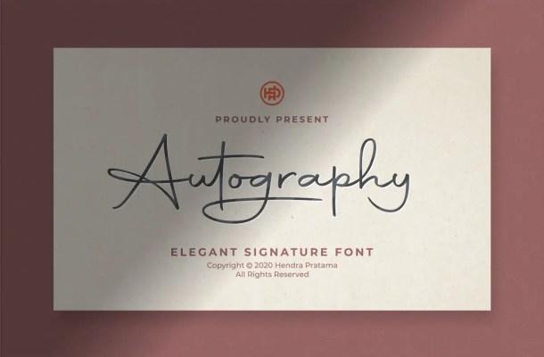 Autography Signature Font