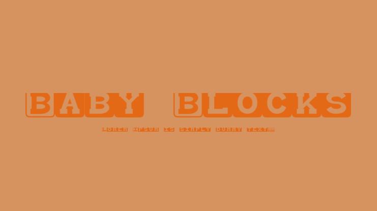 Baby Blocks Font