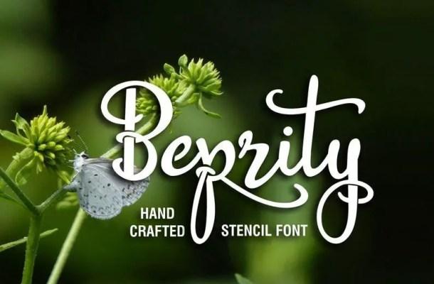 Beprity Stencil Calligraphy Script Font