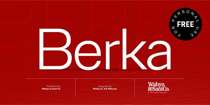 Berka Sans Serif Font01