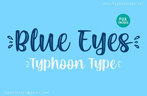Blue Eyes Script Font