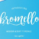 bromello Script Handwritten typeface