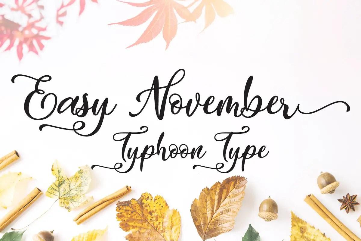 Easy November font01