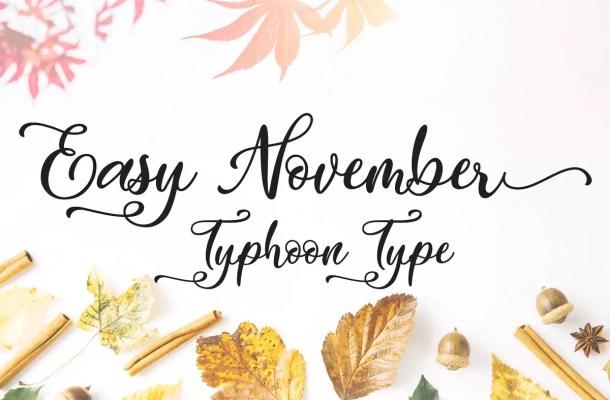 Easy November Script font