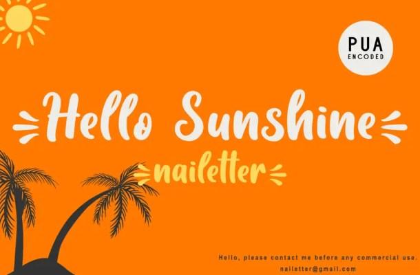 Hello Sunshine Font
