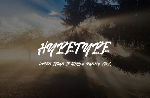 Hypetype Brush Script Font
