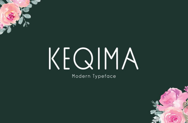 Keqima Display Font