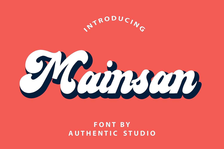 Mainsan Vintage Script Font-1