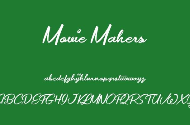 Movie Makers Script Font