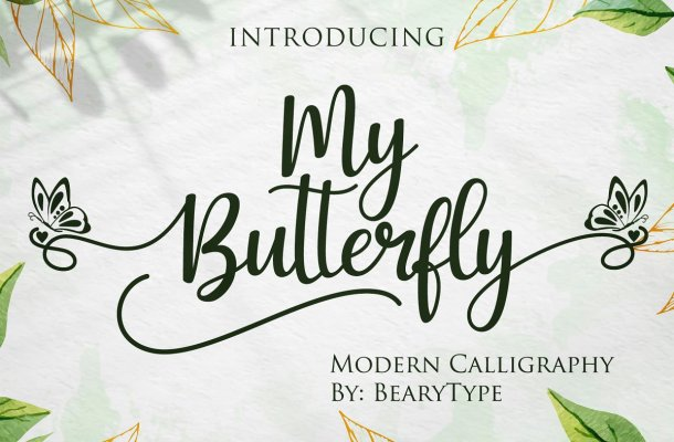 My Butterfly Calligraphy Font