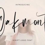 Oakmont Script Logo Handmade Font