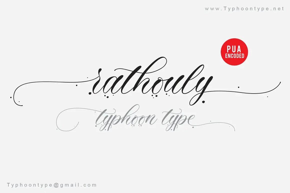 Rathouly Script Calligraphy Font-1