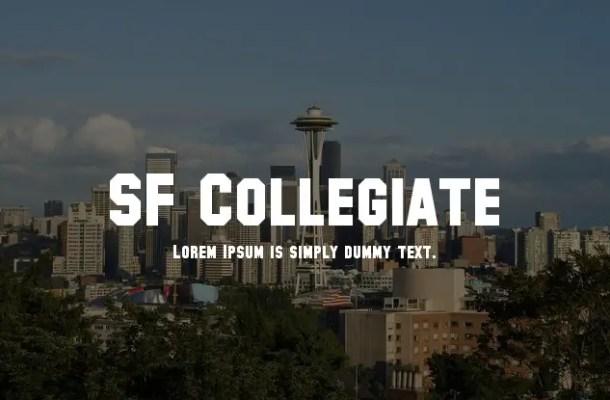 SF Collegiate Font Family