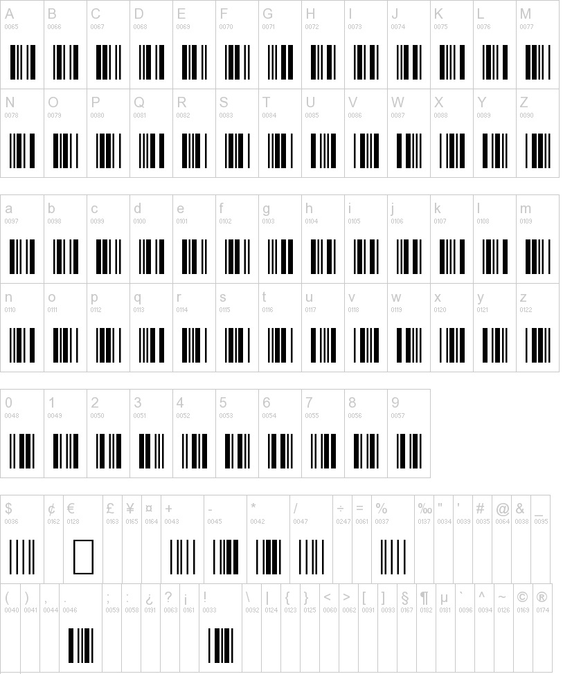 3 of 9 Barcode Font 02