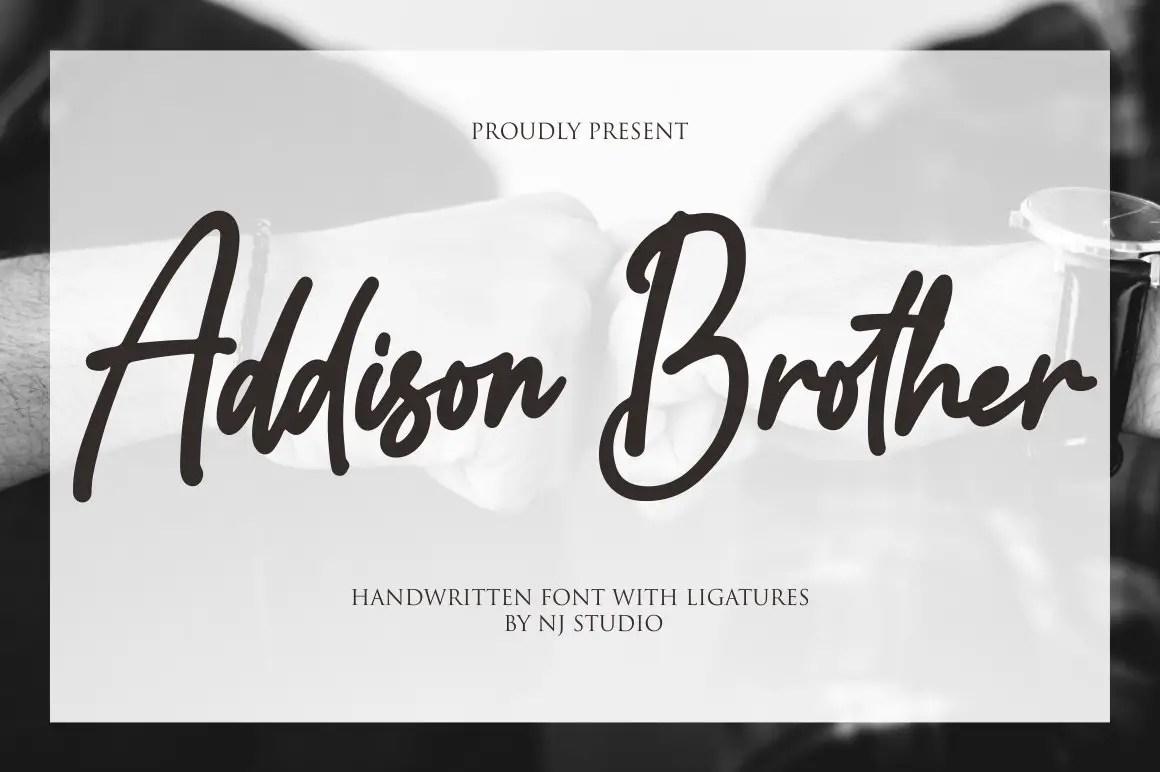 Addison Brother Handwritten Script Font-1