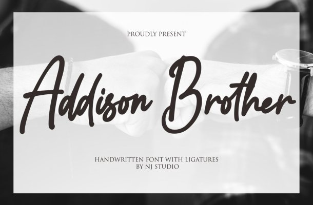 Addison Brother Handwritten Script Font