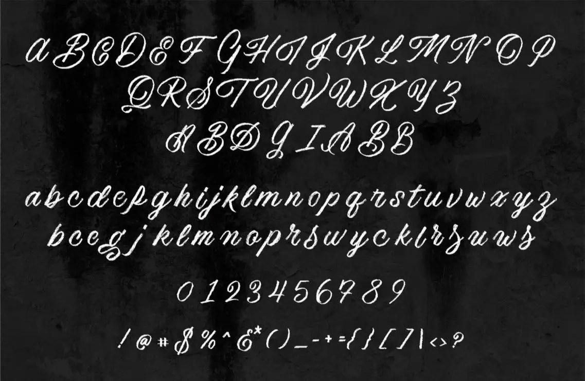 America Textured Script Brush Font-3