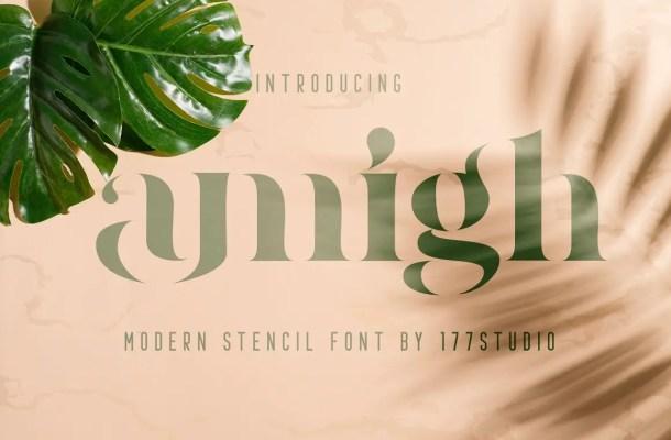 Amigh Modern Serif Font