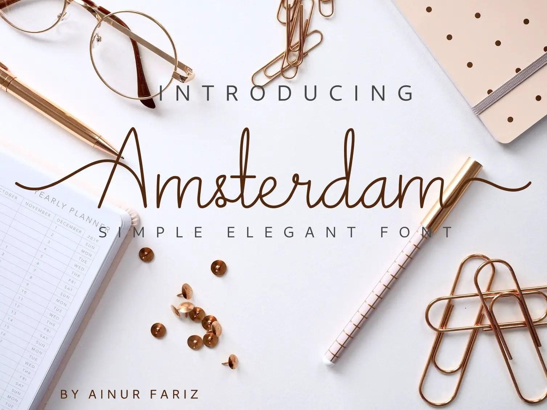 Amsterdam Script Font-1