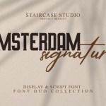 Amsterdam Signature Display Script Font Duo